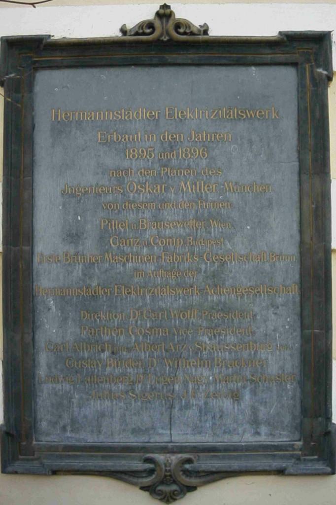 placa veche centrala Sadu I (1)